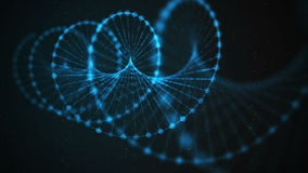 Creative loopable animation of DNA UHD with alpha stock video footage