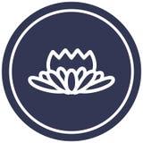A creative lotus flower circular icon. An original creative lotus flower circular icon stock illustration