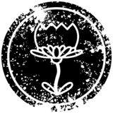 A creative lotus flower distressed icon. An original creative lotus flower distressed icon royalty free illustration