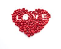 Creative love little red stone stock images