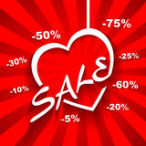 Creative Love  Sale poster with discount sale perc Royalty Free Stock Photo