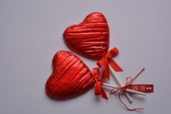 Creative Love You, lollipop hearts stock photography