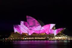 Creative Luminous Lighting Sydney Opera House Royalty Free Stock Photo