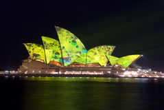 Creative Luminous Lighting Sydney Opera House stock photography