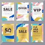 Creative luxury abstract social media web banners for cell phone vector illustration
