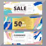 Creative luxury abstract social media web banners for website he Stock Photography
