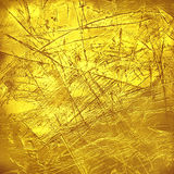 Creative luxury scratched golden texture. Stock Images