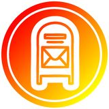 A creative mail box circular in hot gradient spectrum royalty free illustration