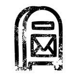 A creative mail box icon stock illustration
