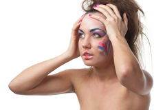 Creative make-up. Stock Image