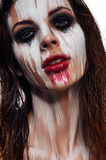 Creative Make-up on beauty Woman`s Face Stock Image