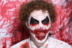 Clown joker make up Stock Images