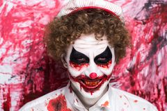 Clown joker make up Royalty Free Stock Photo