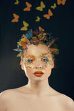 Creative make up like butterfly Stock Photos