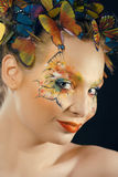 Creative make up like butterfly Royalty Free Stock Photography