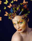 Creative make up like butterfly Stock Images