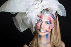 Woman art make up Stock Image