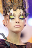 Creative makeup   Druids and trees Stock Image