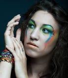 Creative makeup. Royalty Free Stock Photo