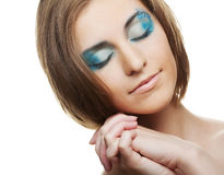 Creative makeup. Royalty Free Stock Photography