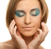 Creative makeup. Royalty Free Stock Images