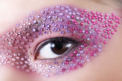 Creative makeup. Close-up eye with creative makeup Stock Images