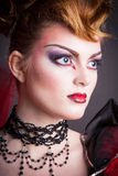 Creative makeup and blood image of the evil queen. Stock Images