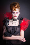 Creative makeup and blood image of the evil queen. Stock Image