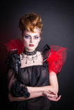 Creative makeup and blood image of the evil queen. Royalty Free Stock Photography