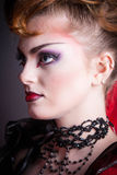 Creative makeup and blood image of the evil queen. Stock Photography
