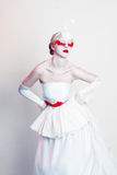 Creative Makeup modelo fêmea bonito Imagens de Stock Royalty Free