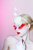 Creative Makeup modelo fêmea bonito Fotografia de Stock