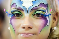 Creative makeup show at the festival of beauty royalty free stock photo
