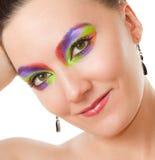 Creative makeup woman Stock Photography