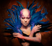 Creative makeup. Woman from space concept. Royalty Free Stock Photography