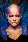 Creative makeup. Woman from space concept. Stock Images