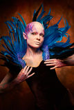 Creative makeup. Woman from space concept. Stock Photography
