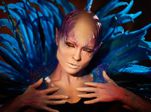 Creative makeup. Woman from space concept. Stock Image