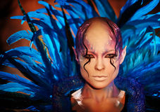 Creative makeup. Woman from space concept. Stock Photo