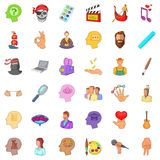 Creative man icons set, cartoon style Royalty Free Stock Photography