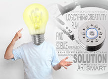 Creative man with new ideas. Stock Photos