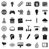 Creative market icons set, simple style Stock Photo