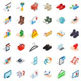 Creative marketing icons set, isometric style Stock Image