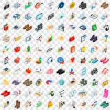 100 creative marketing icons set, isometric style. 100 creative marketing icons set in isometric 3d style for any design vector illustration Stock Photo