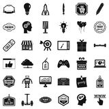 Creative marketing icons set, simple style Stock Photography