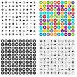 100 creative marketing icons set variant. 100 creative marketing icons set in 4 variant for any web design isolated on white Royalty Free Illustration