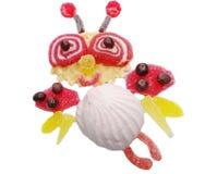 Creative marmalade fruit jelly sweet food bee form Stock Photography