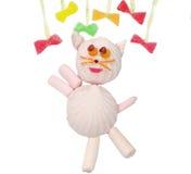 Creative marmalade fruit jelly sweet food cat form Stock Photos