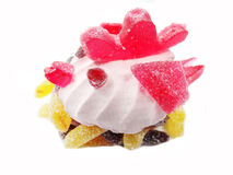 Creative marmalade fruit jelly sweet food chicken bird form Stock Photos