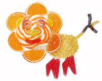 Creative marmalade fruit jelly sweet food lion form Royalty Free Stock Photos